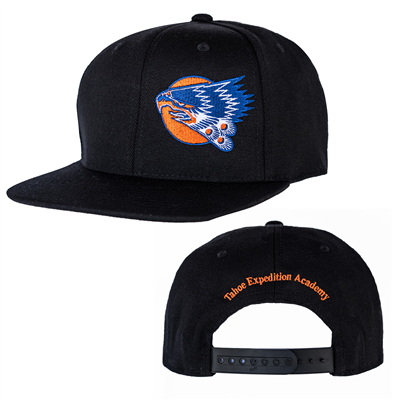 Flat Top Hat  - Black - Eagle