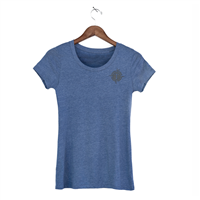 Womens Triblend Short Sleeve Tees - Heather Blue