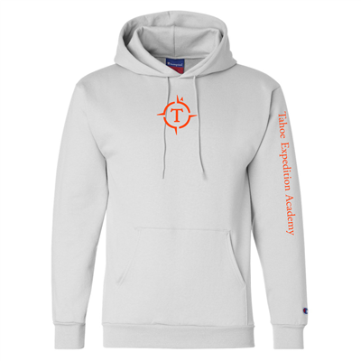 Adult White Champion Hoodie