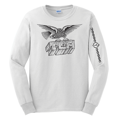 Adult White Long Sleeve Tee