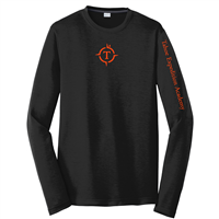 Adult Black Long Sleeve Tech Tee