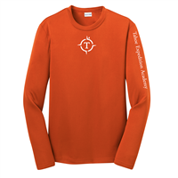 Youth Orange Long Sleeve Tech Tee