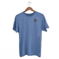 Mens Triblend Short Sleeve Tees - Heather Blue