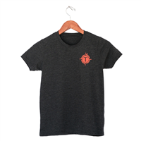 Youth Triblend Shirt Sleeve Tees - Charcoal Grey M